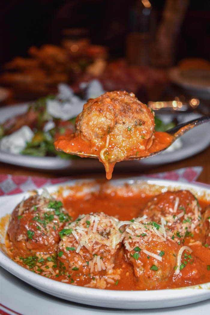 meatball appetizer at Buddy Vs