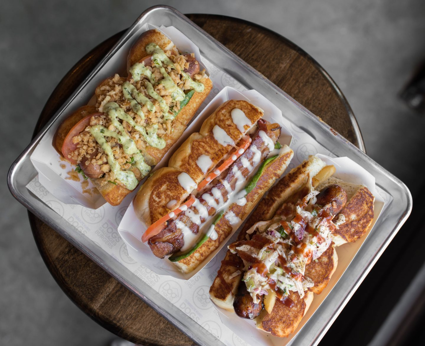 Dog Haus Biergarten hot dogs