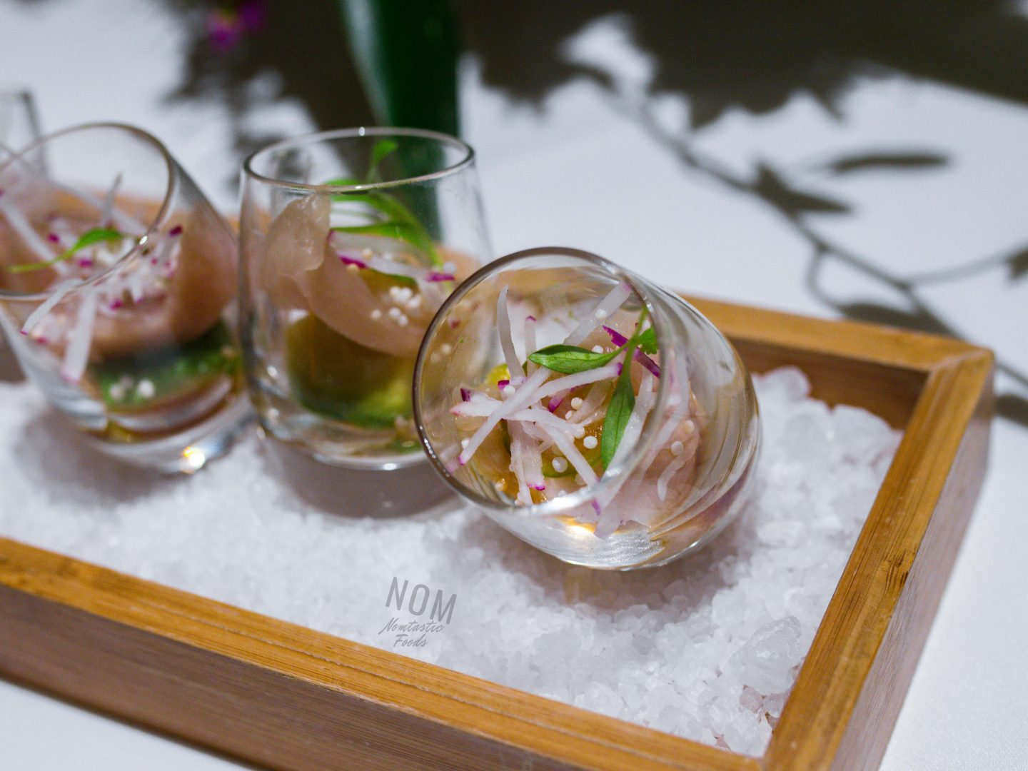 Alexander's Steakhouse Hamachi Shots
