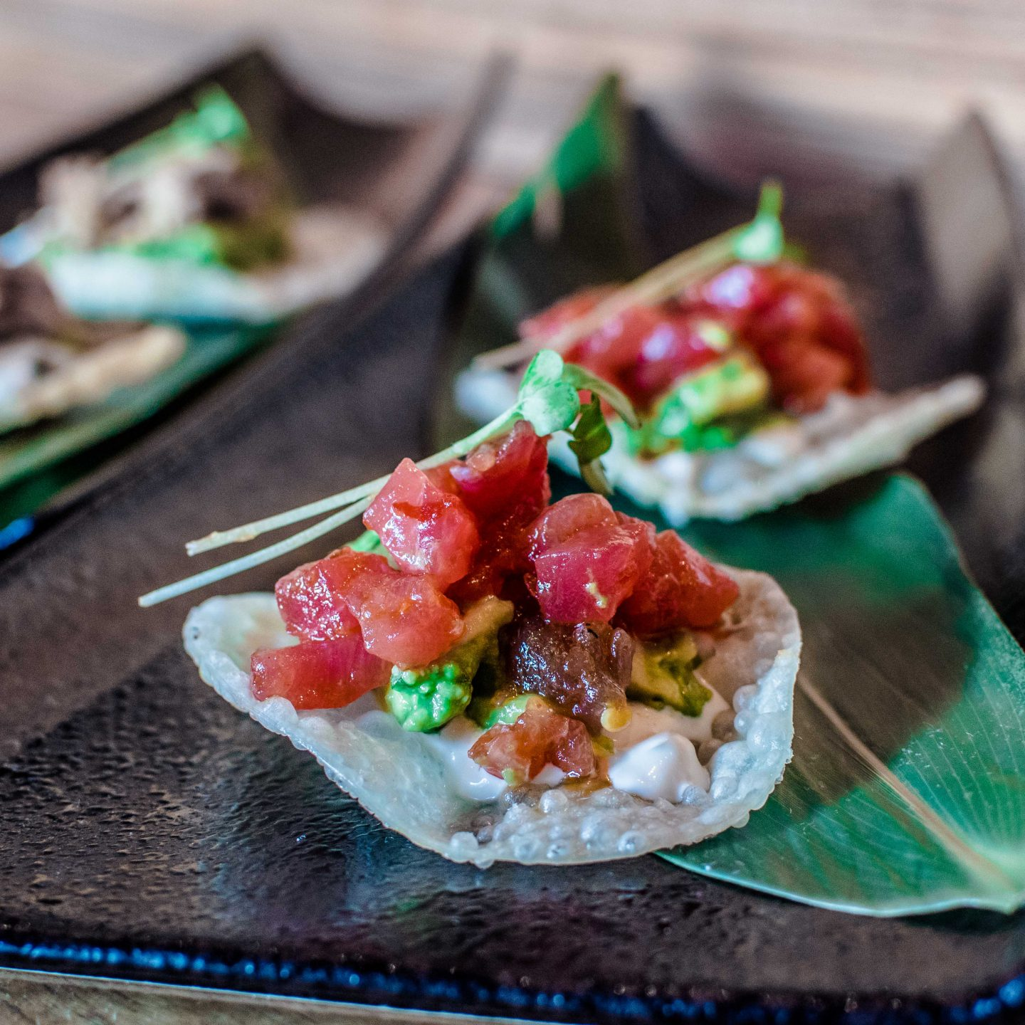 Ozumo's Asian Tacos with Maguro