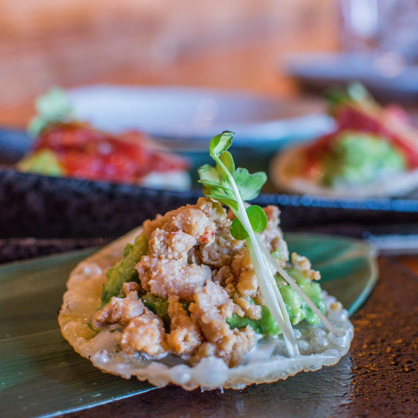 Ozumo's Asian Tacos with Chicken