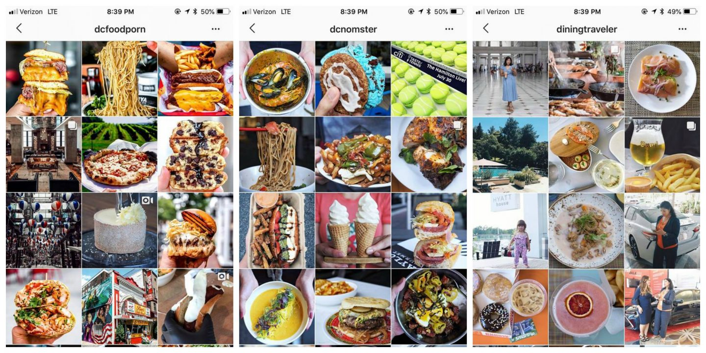 best dc food instagrammers