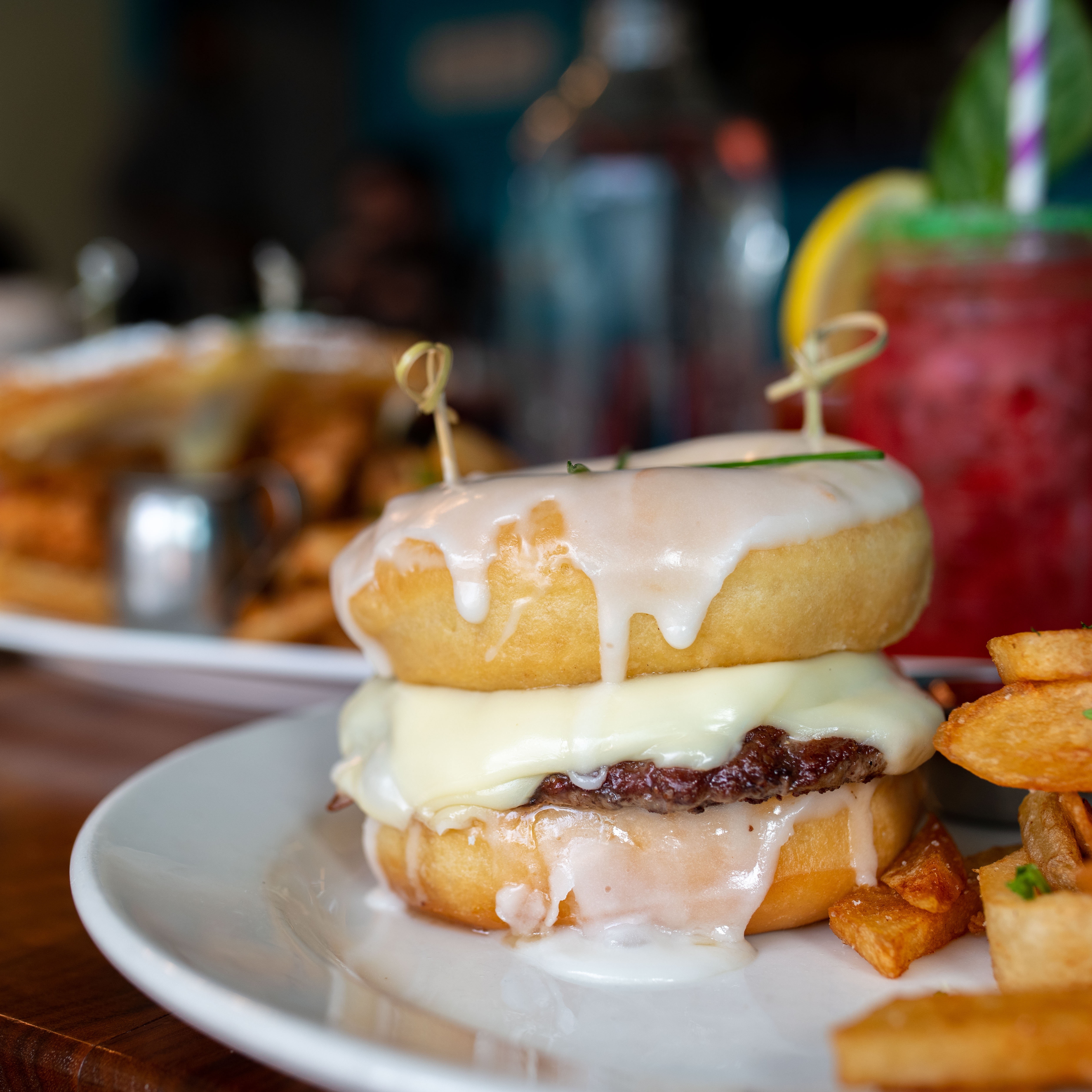 Straw SF The Ring Master Donut Burger - Best Brunch in San Francisco