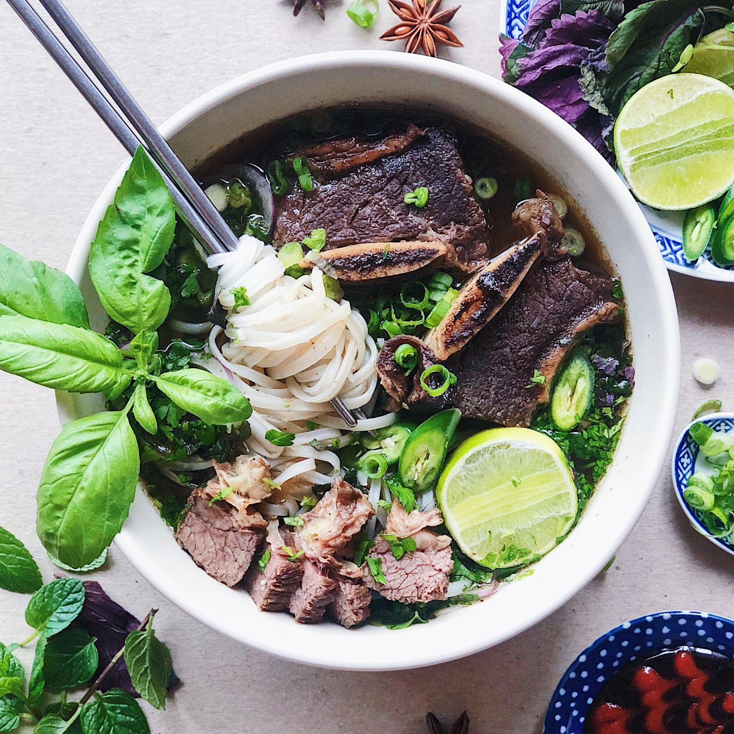 Shortcut Short Rib Pho in a Slow Cooker