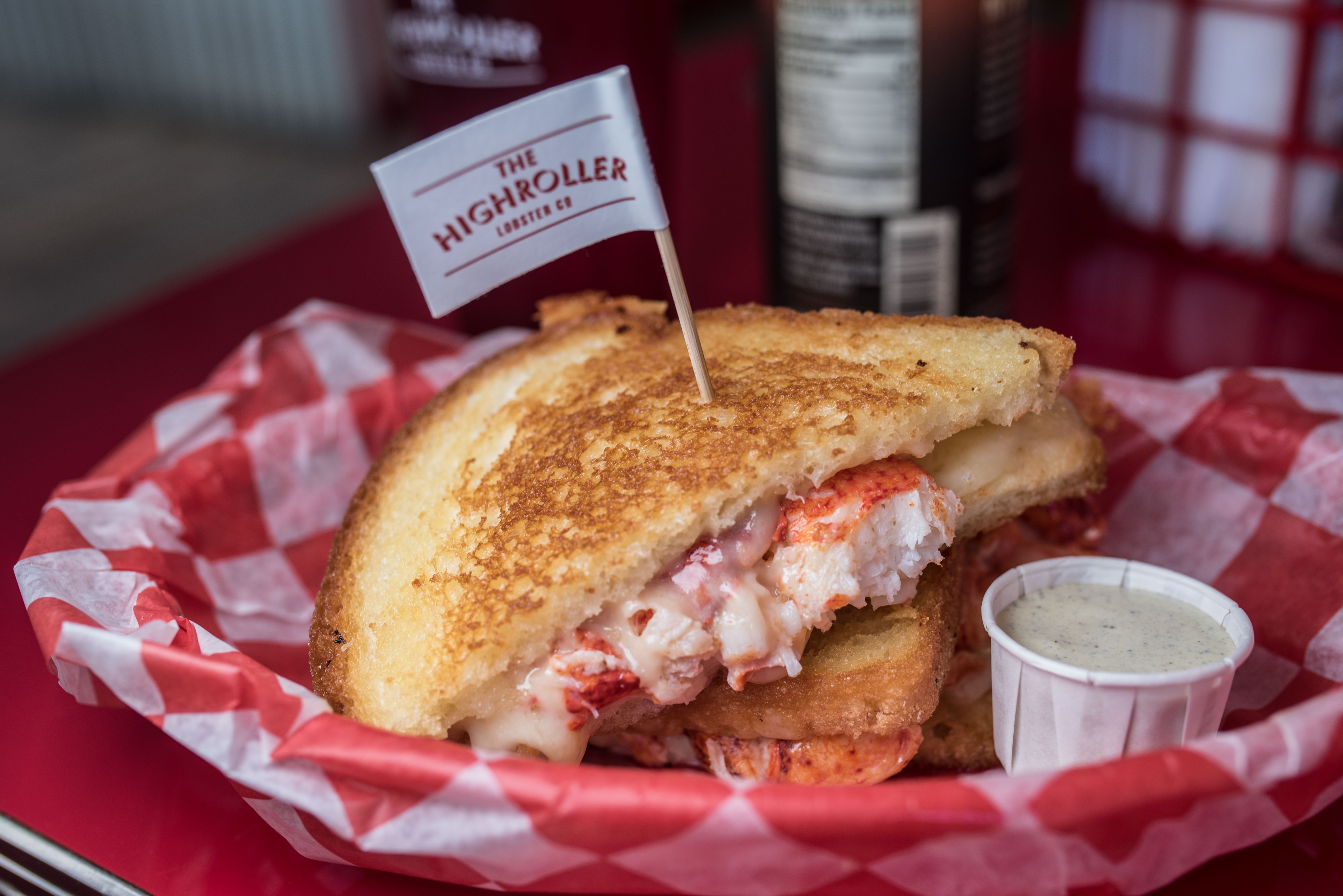 high roller lobster grilled cheese