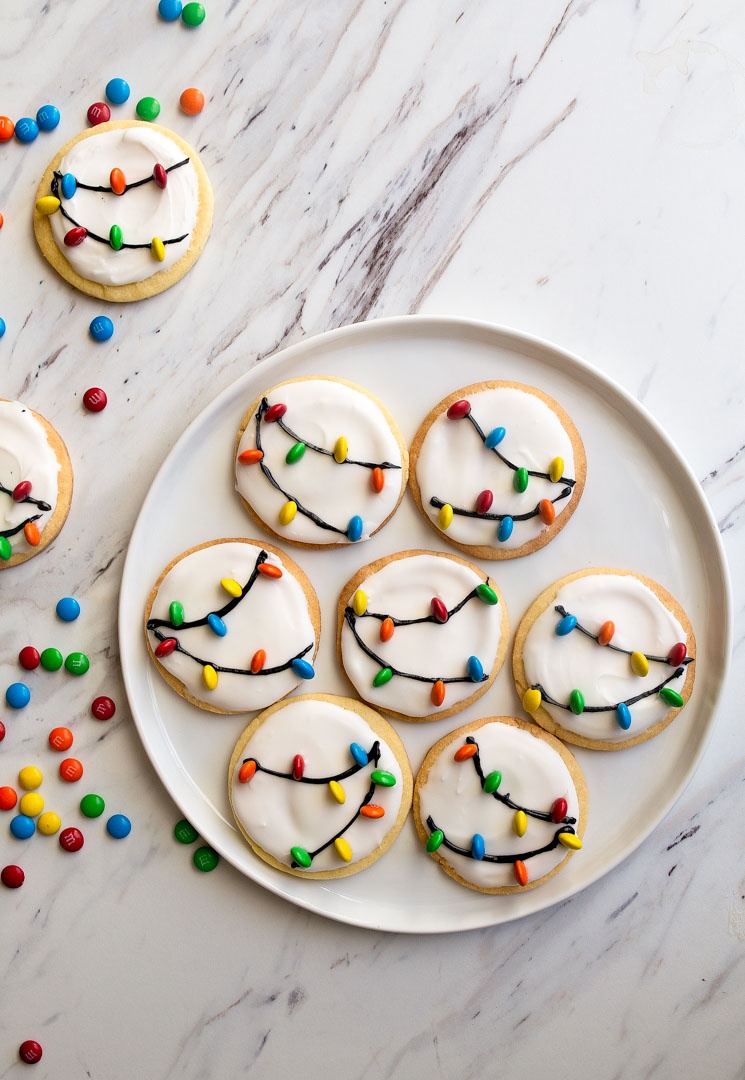 Dessert for Two Christmas Lights Cookies