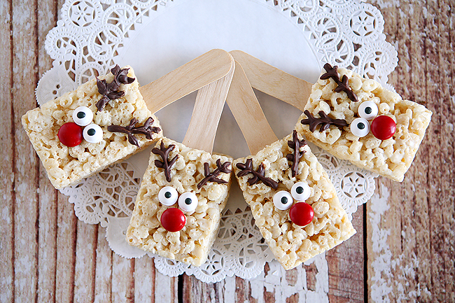Thirty Handmade Days Reindeer Rice Krispies