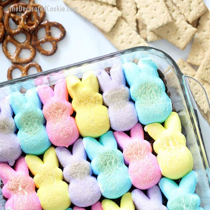 Easter Peeps S'mores Dip