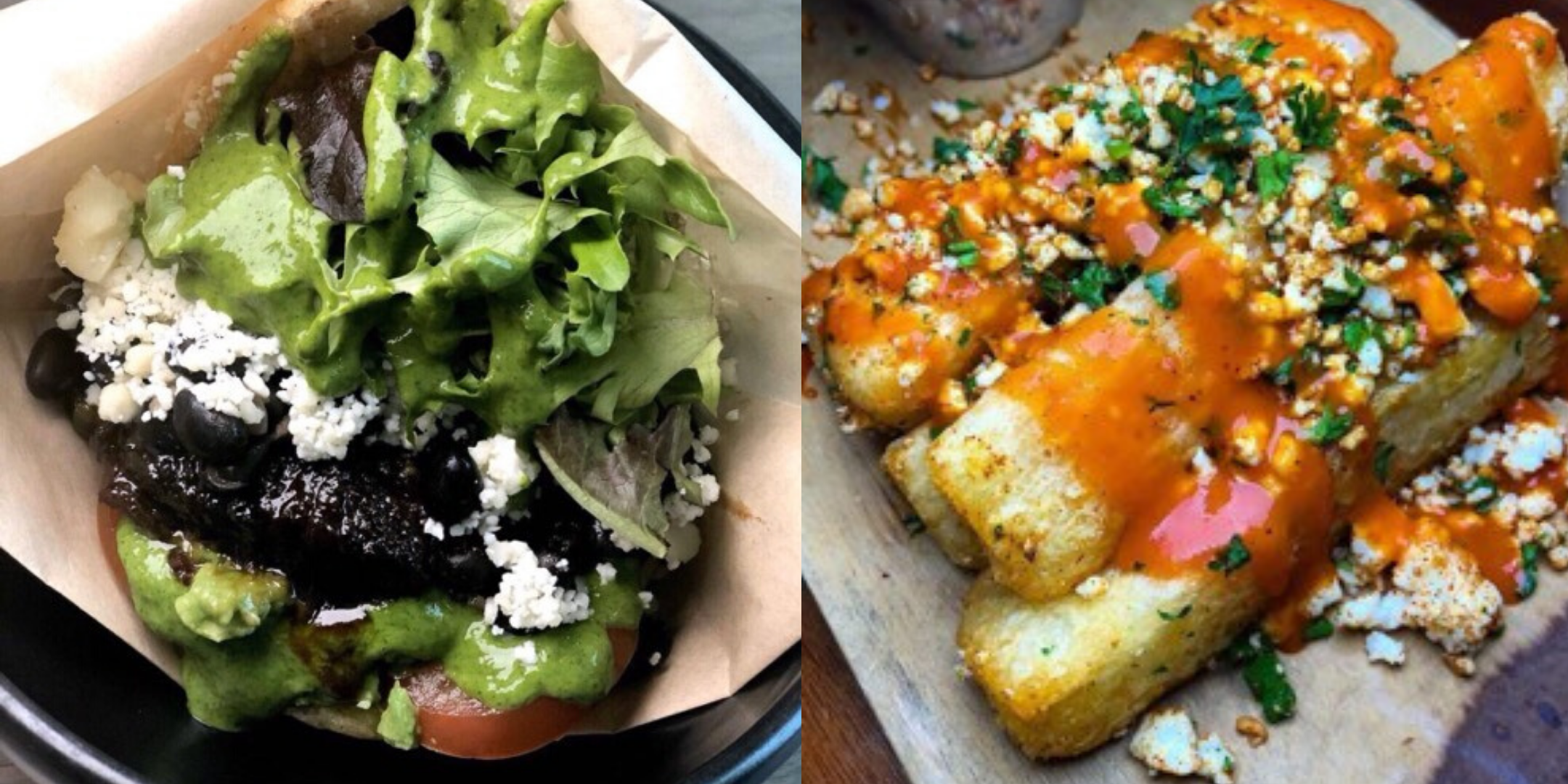 Alma Cocina's Black and White Arepa