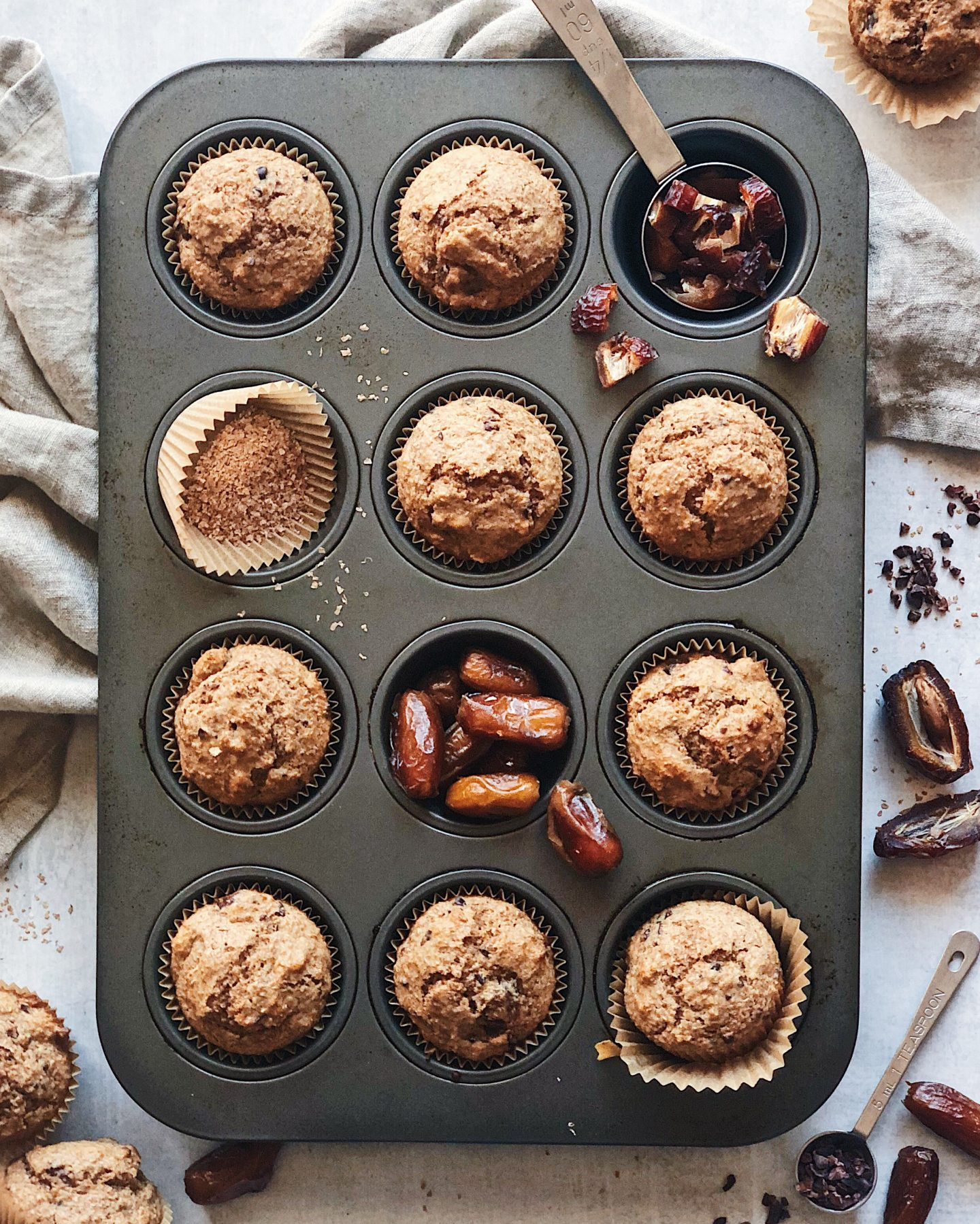 Date and Cacao Bran Muffins