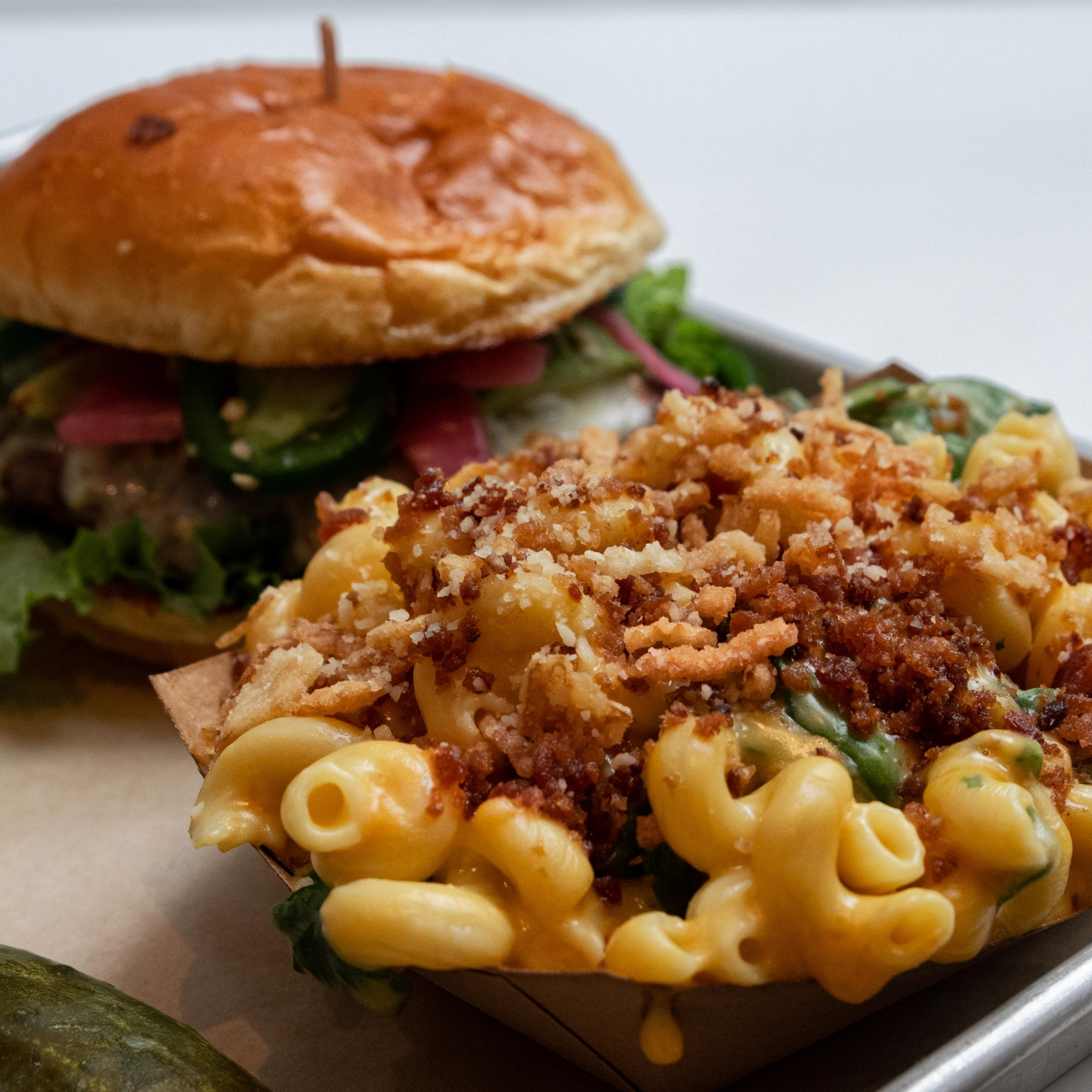The Melt Bacon Florentine Mac n Cheese