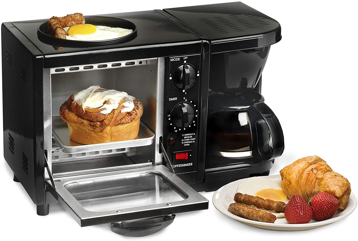 3 in 1 Toaster Oven/Coffee Maker/Griddle
