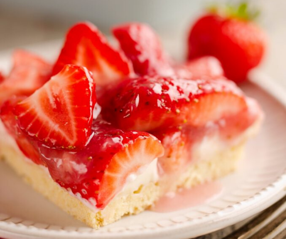 Fresh Strawberry Pie Bars