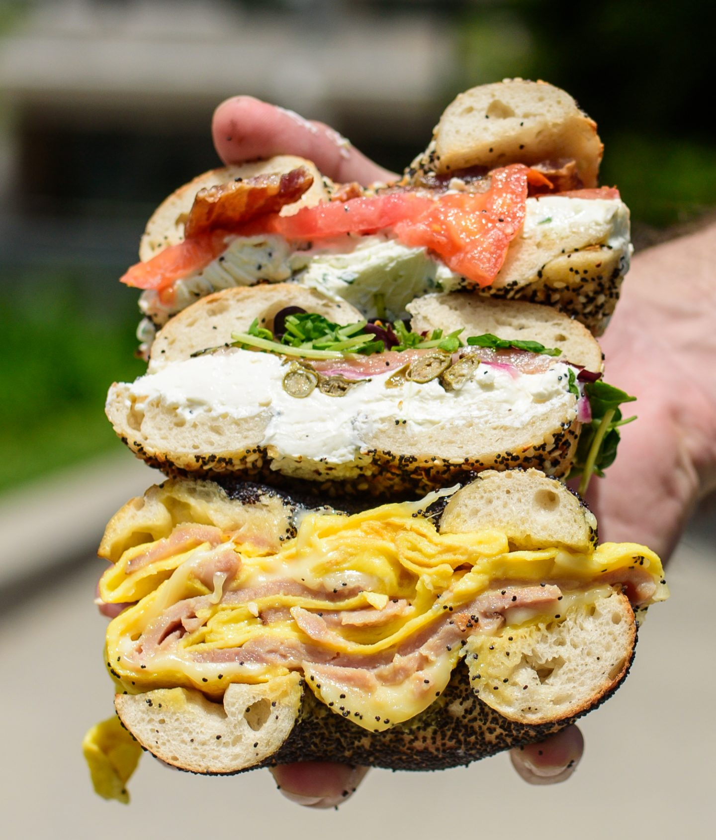 pearl's bagel sandwiches